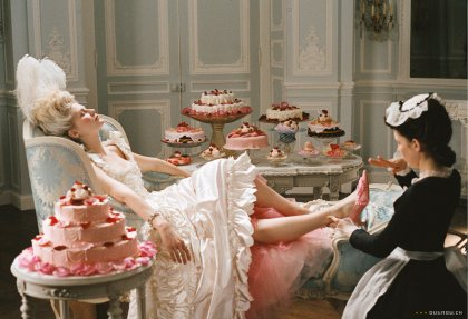 """Marie Antoinette never said, """"Let them eat cake."""" Courtesy Columbia Pictures."""
