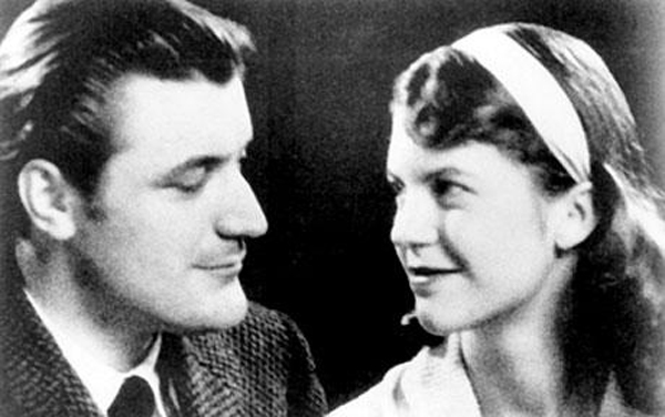 Ted Hughes and Sylvia Plath in 1956