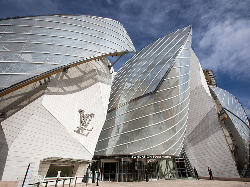 Branded museums: Le Fondation Louis Vuitton, Paris, France. Courtesy Fondation Louis Vuitton Visitor's Guide.