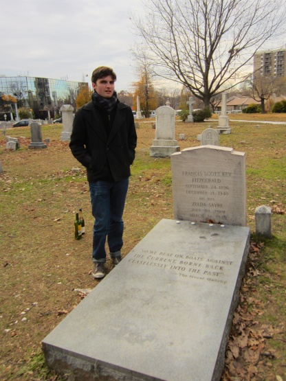 Visiting Fitzgerald's grave in Rockville, Maryland, in 2012.