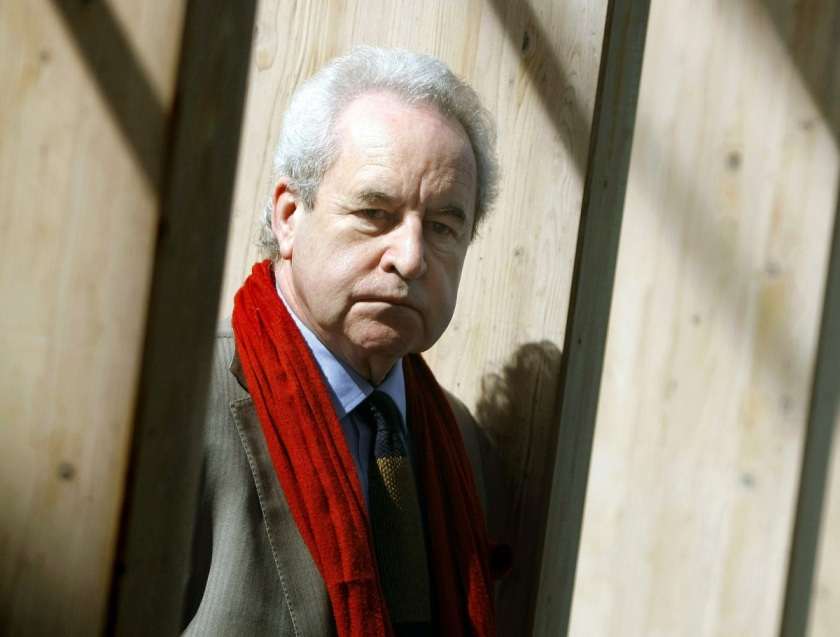 epa04678582 Irish writer John Banville, who signs his noir novels as Benjamin Black, poses during an interview with Spanish News Agency EFE on the occassion of the fourth CorunaMayusculas Festival (Coruna's Capital Letter) at the main square of La Coruna, Spain, 25 March 2015.  EPA/CABALAR